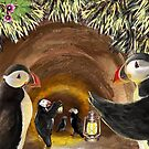 Puffins in the Tunnel by EnPassant