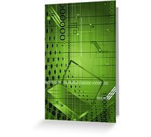 Abstract technological background Greeting Card
