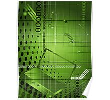 Abstract technological background Poster