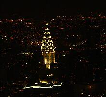 Chrysler Building At Night, New York City by elbeasto