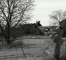 Barely Breathing.... a farm loosing it's life... by Larry Llewellyn