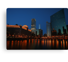 Where the River Splits in Chicago Canvas Print