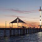 Brighton Jetty Sunset by AllshotsImaging