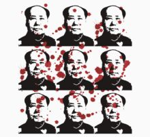 Chairman Mao Warhol Bloodstains by midniteoil