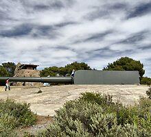 Vickers and Armstrong 38.1 cm gun, Bateria de Cenizas, Costa Calida, Spain by Squealia