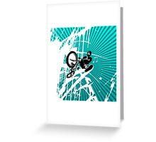 BMX Pop Art Blue Greeting Card