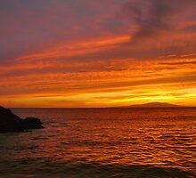 Fiery Makena Sunset by Stephen Vecchiotti
