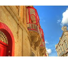 Red in the Silent City Photographic Print
