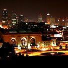 Kansas City At Night by David Dunham