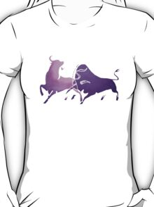 Bull Fight in Lilac T-Shirt
