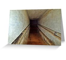 A Tunnel in an Abandoned Nazi Bunker Greeting Card