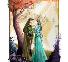 Aragorn and Arwen in Rivendell by Andy Smith