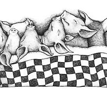 AUSPICIOUS PIGS (Bacons in a Blanket) by palma tayona