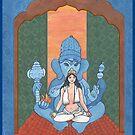 Role Reversal/Mama Parvati and Bebe Ganesha by redqueenself