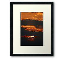 Bursting into flames Framed Print