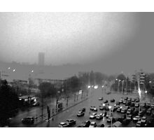 My City on a Winter, rainy day Photographic Print