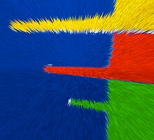 Primary Color Explosion - Blue - Yellow - Red - Green III by Buckwhite