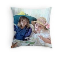 """""""One lump or two?"""" Throw Pillow"""