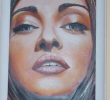 'Adriana' oil on canvas 2007 (470x370mm framed) by DKole