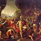 Leonidas at Thermopylae by Jacques Louis David by troycap