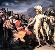 Achilles gives Nestor the Price of Wisdom  by Joseph Desire Court by troycap