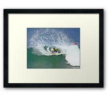 Joel Parkinson wins 2009 Rip Curl Pro at Bells Beach 2 Framed Print