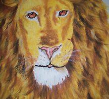 Lion for Wolfie by Kellea Croft