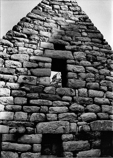Hut in Window at Machu Picchu by Amy E. McCormick