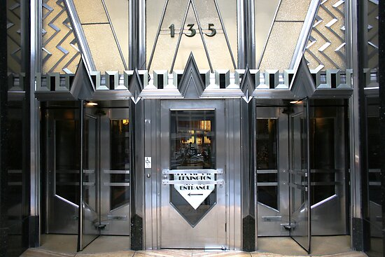 Art Deco Door, Chrysler Building, New York by Jane McDougall