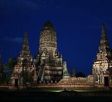 ruins in Ayutthaya by Kaylea
