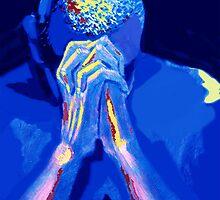 BLUE PRAYER by CustomCanvasART