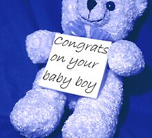 Sign BEARer - Congrats on your baby boy by Stephen Thomas