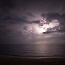 Thuderstorm over the Atlantic by Larry  Grayam