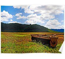 Worked the fields - Sugar Cane Paddocks - Cairns - Queensland - Australia Poster