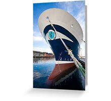 Zephyr in Lerwick Harbour, Shetland Islands, Scotland Greeting Card