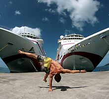 Twin ships balance by Tom Clunn