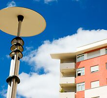 Modern street lamp by mrfotos