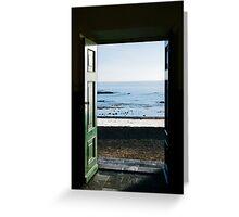 Ocean trough the door Greeting Card