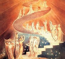 Jacob's Ladder by William Blake, ca. 1800 by troycap