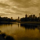 melbourne skyline from the yarra by jonnywalker