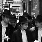 New York Boys, Friends in the Street, Manhattan by Jane McDougall