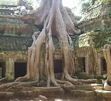 cambodia temple by grostique