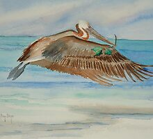 Pelican with Holly Branch by Autry  Dye