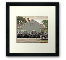 Louisiana Tires Framed Print