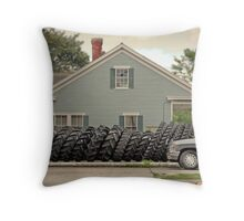 Louisiana Tires Throw Pillow