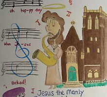 Jesus the Manly Sax Machine by Sarah Bentvelzen