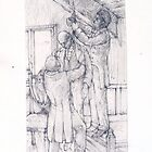 Doncaster College Art - sketch of a hanging by Doncaster College