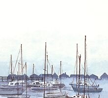 New England Marina by Kate Eller