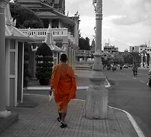 Monk in Phnom Penh by SerenityChase