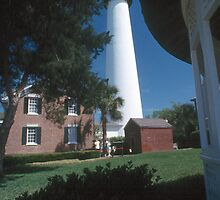 St. Simons Island lighthouse by Larry  Grayam